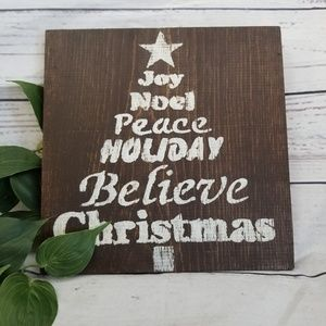 Stenciled Wood Christmas Wall Sign